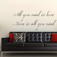 All You Need is Love ~ Wall sticker / decal